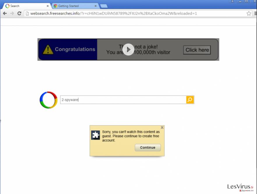 An Example of Google Redirect virus