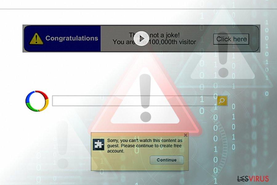 Le virus de redirection Google (résultats de recherche)