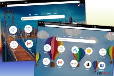 Les différents designs du site Handy-Tab.com search
