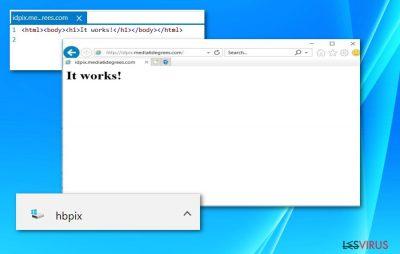 Capture d'écran du fichier HBPix et / du site Web idpix.media6degrees.com