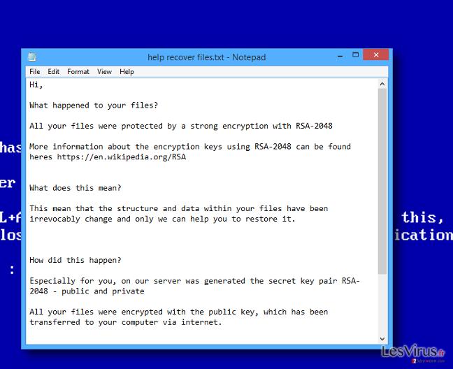 Help recover files.txt virus
