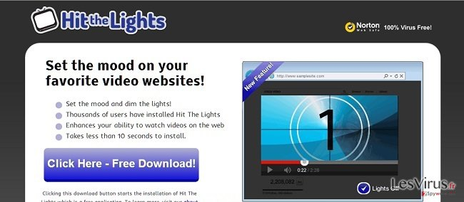 Hit The Lights adware instantané