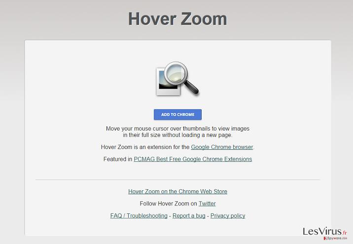 Hover Zoom annonces instantané