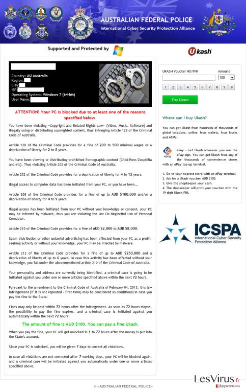 ICSPA virus instantané