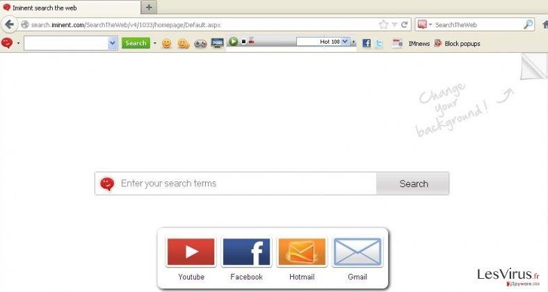 Iminent toolbar instantané
