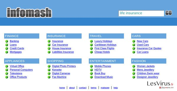 InfoMash redirect instantané