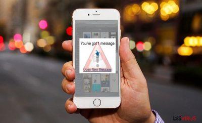 Une image montrant le virus iOS
