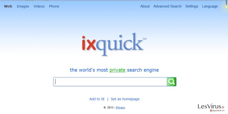 Ixquick.com instantané