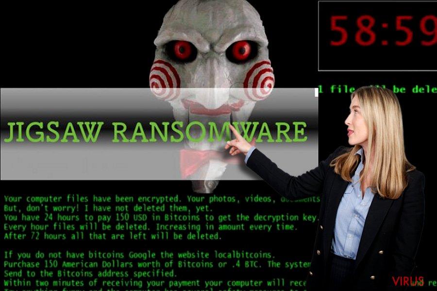 Le virus rançongiciel Jigsaw