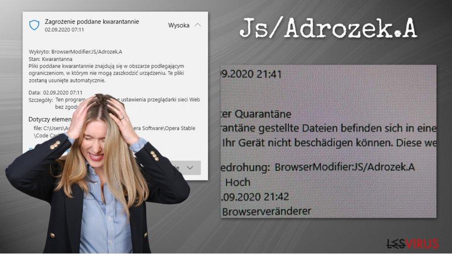 Le virus Js/Adrozek.A
