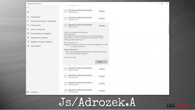 Logiciel malveillant Js/Adrozek.A