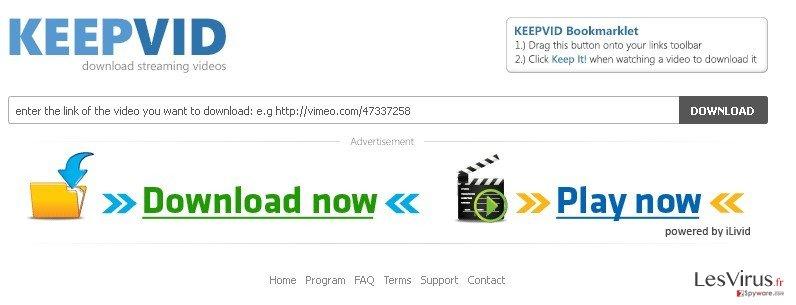 KeepVid.com instantané