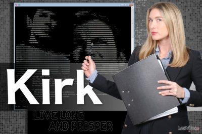Illustration du virus rançongiciel Kirk