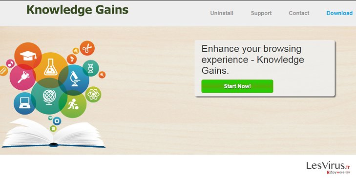 Knowledge Gains adware instantané