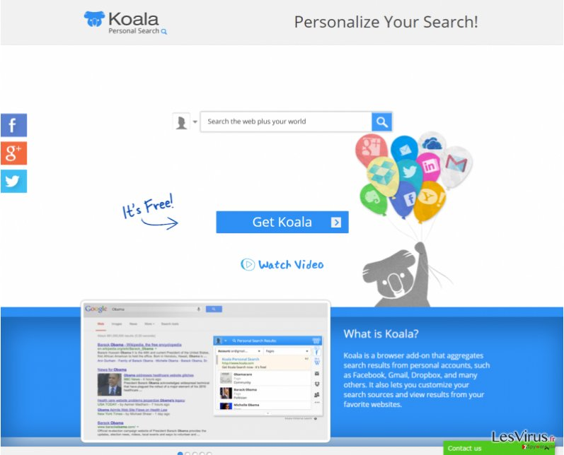 Koala Personal Search instantané