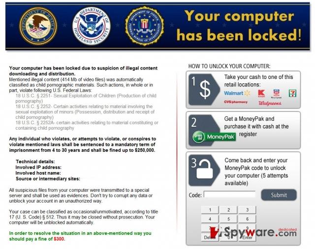 Kovter ransomware instantané