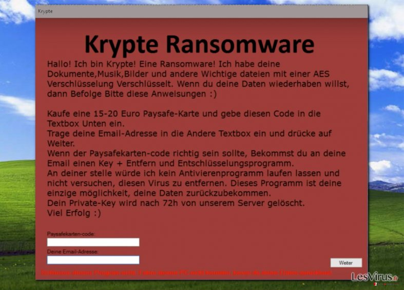 supprimer krypte virus  instructions am u00e9lior u00e9es
