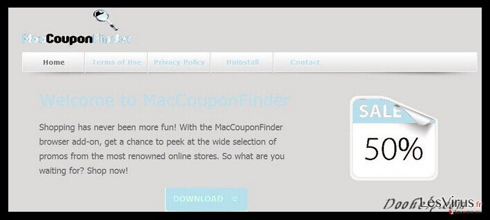 MacCouponFinder ads instantané