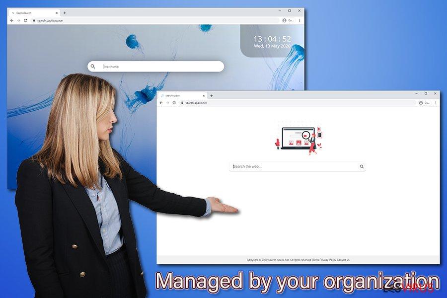 La notification «Géré par votre organisation »