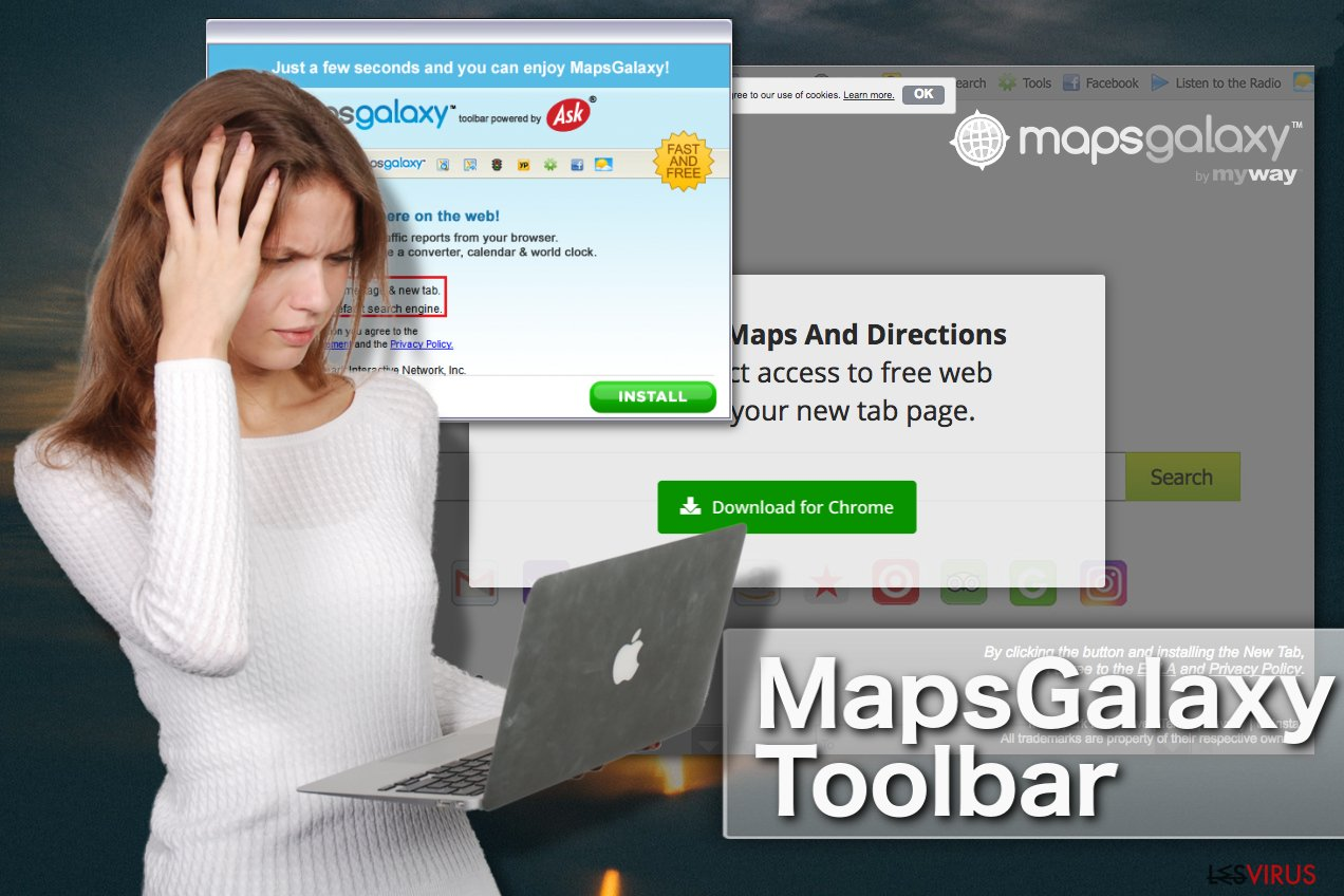 MapsGalaxy Toolbar instantané