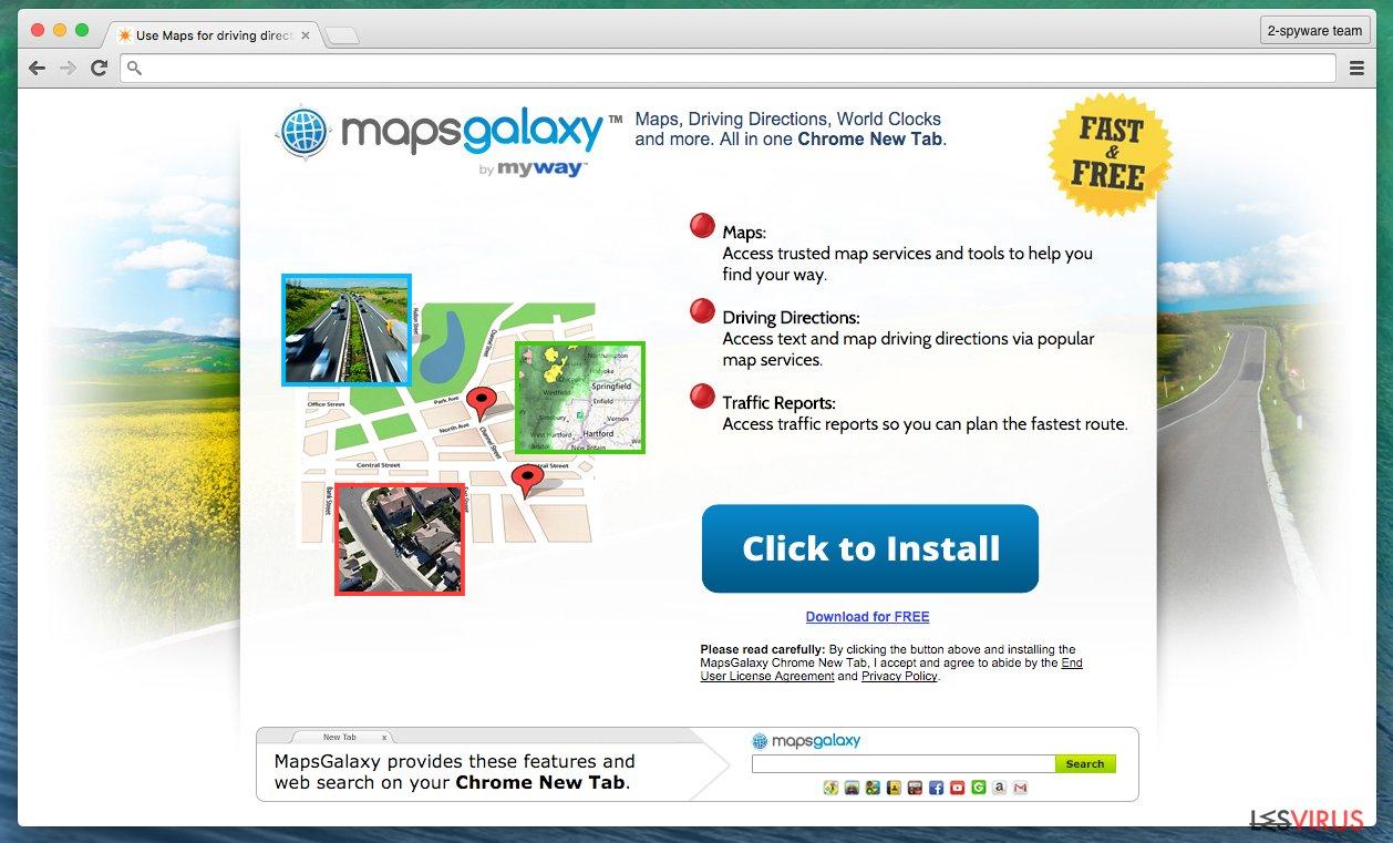 MapsGalaxy potentially unwanted program