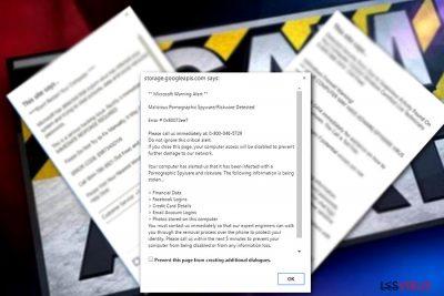 Une exemple de Microsoft warning Alert