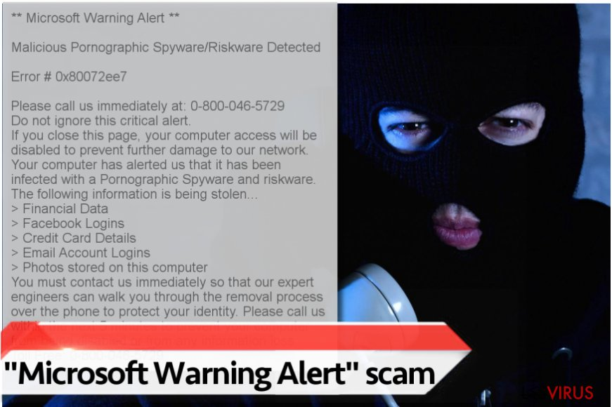 "Le virus ""Microsoft Warning Alert"""