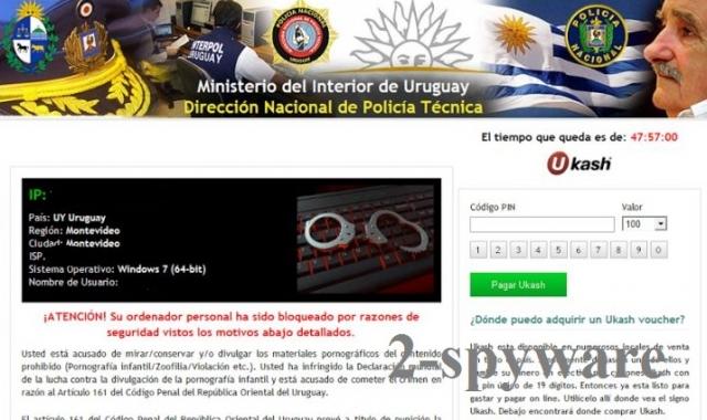 Ministerio del Interior de Uruguay virus instantané