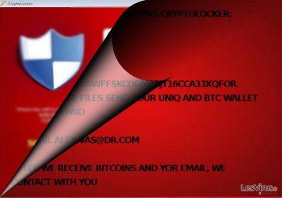 MNS Cryptolocker a-t-il un lien avec CryptoLocker ?