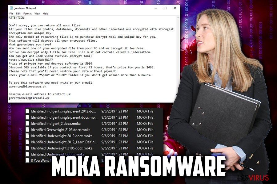 le virus de type ransomware Moka