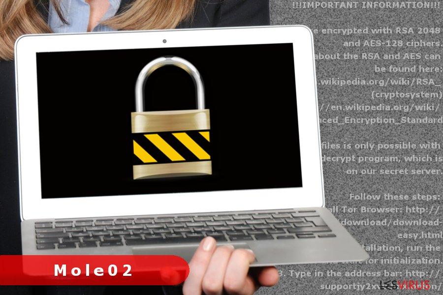 L'image du virus rançongiciel Mole02