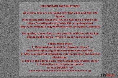 La note de rançon du virus rançongiciel Mole02