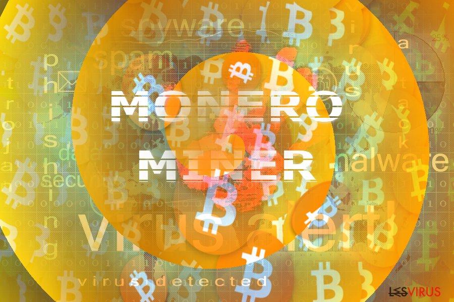 Illustration représentant le concept Monero Miner