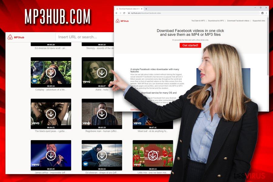 Mp3hub.com contenu protégé par des droits d'auteur