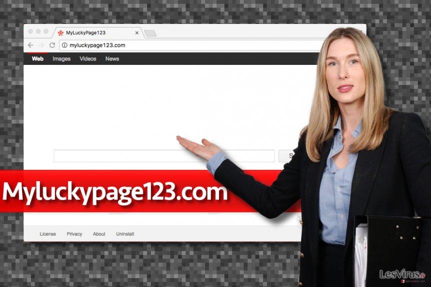 Le moteur de recherche factice Myluckypage123.com