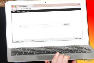 Le virus MyLuckySearching.com dans un ordinateur