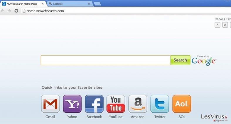 mywebsearch.com instantané