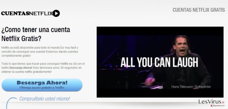 Netflix.com pop-up ads instantané