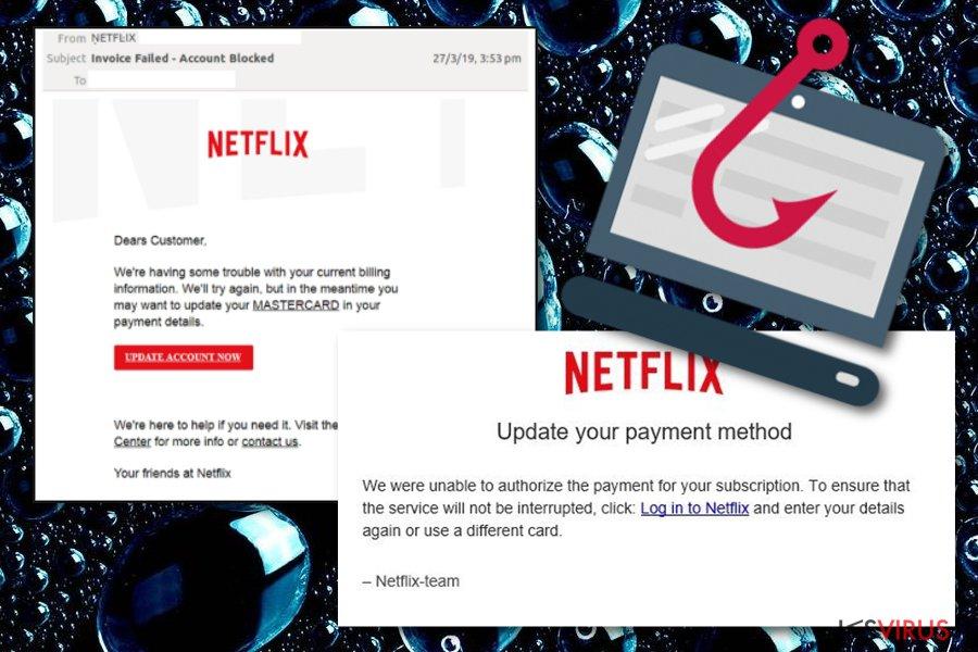 l'arnaque E-mail Netflix