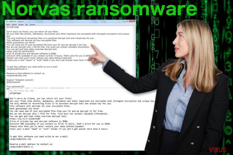 le virus de type ransomware Norvas