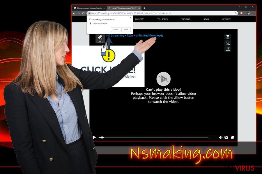 le virus de notifications push Nsmaking.com