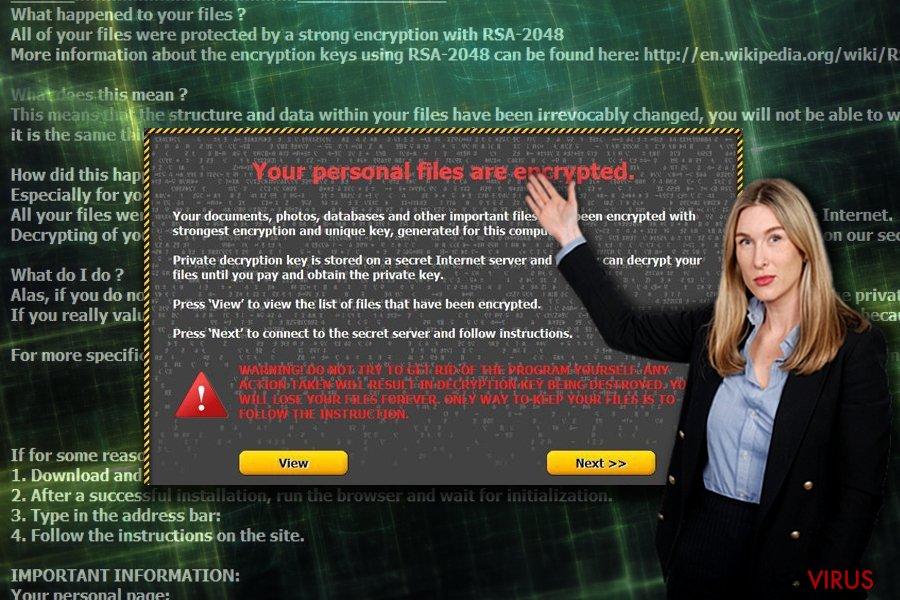 Capture d'écran de la note de rançon d'Onion
