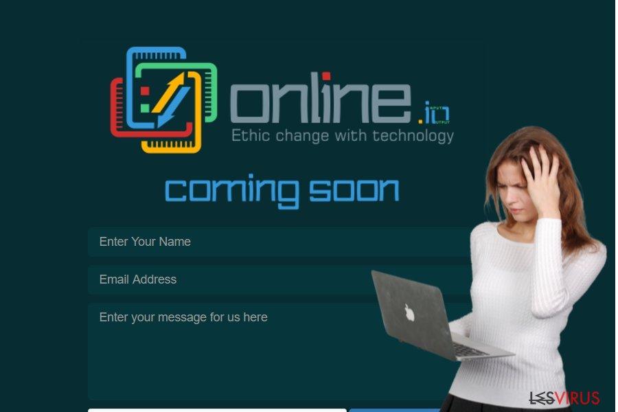 L'image montrant le virus online.io