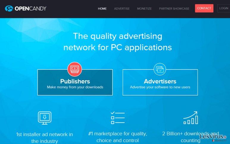 Le publiciel OpenCandy instantané
