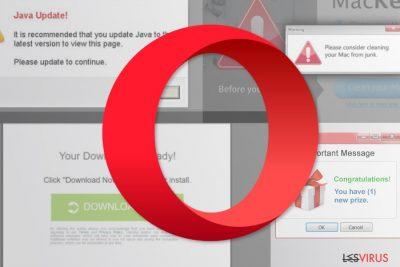Le virus de redirection Opera