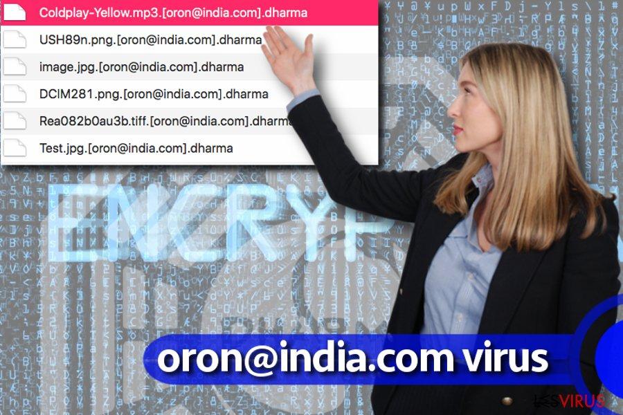Le virus rançongiciel oron@india.com