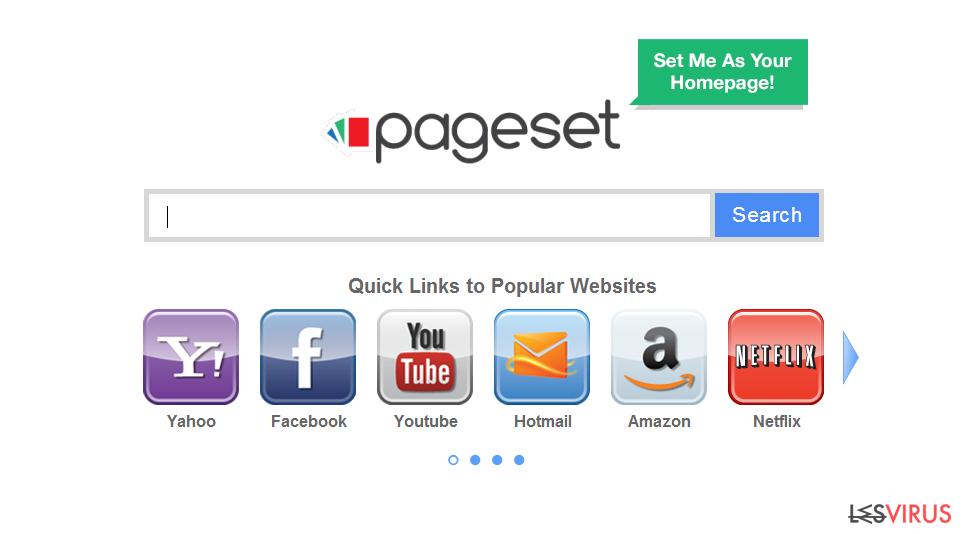 Pageset.com virus instantané