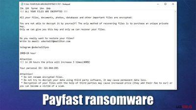 Le rançongiciel Payfast