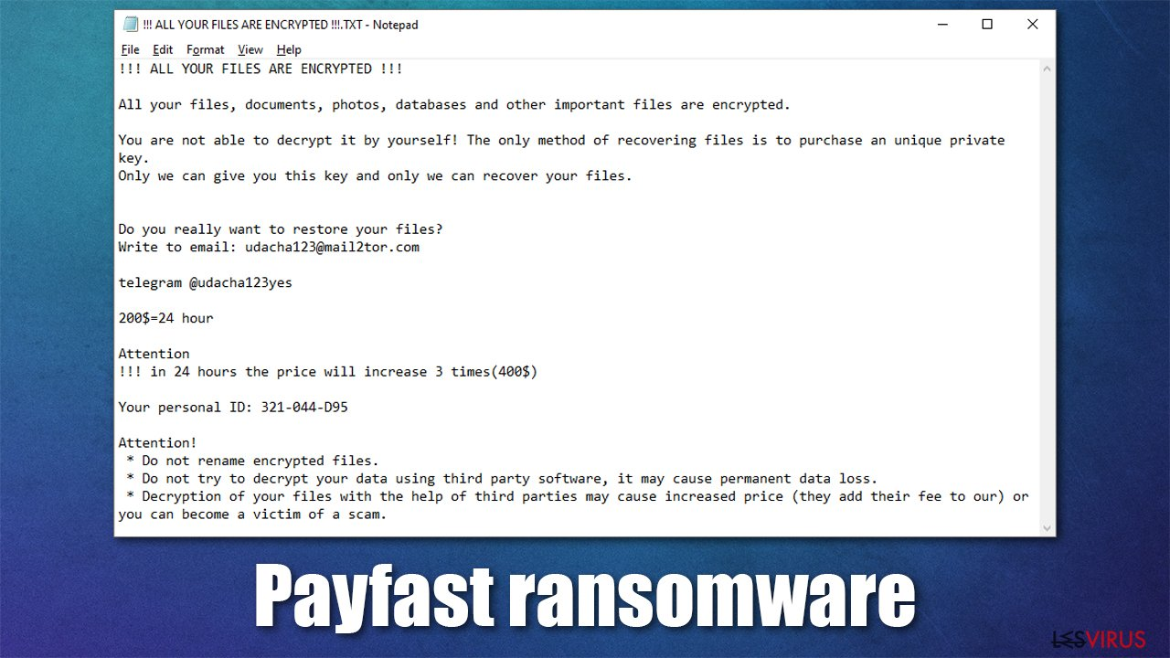 Payfast ransomware