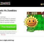 Plants Vs Zombies adware instantané